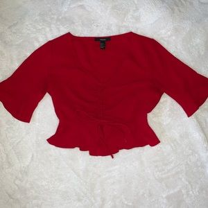 Forever 21 red scrunch top